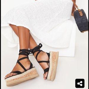 Pretty little thing flatform sandals
